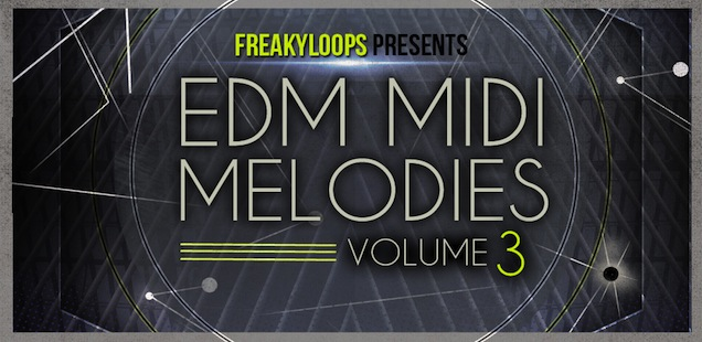EDM MIDI Melodies Vol 3 + Loops