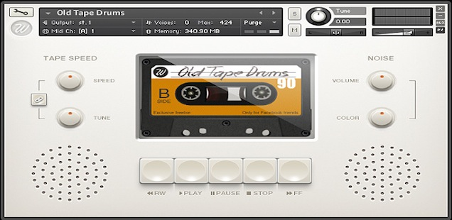 Free Kontakt Sample Library Old Tape Drums