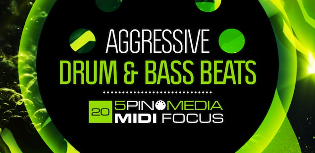 MIDI Focus – Aggressive Drum & Bass Beats Sample Library – Free Samples