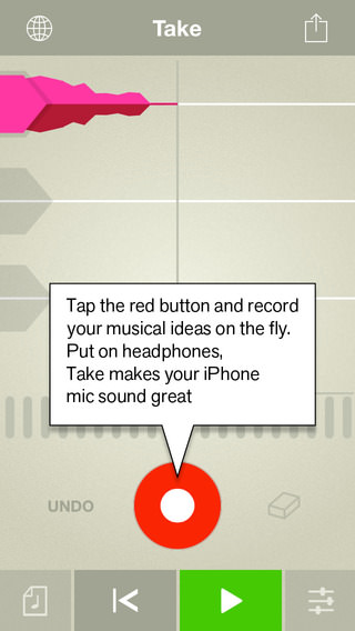 Free iOS App – Propellerhead Take Creative Vocal Recorder