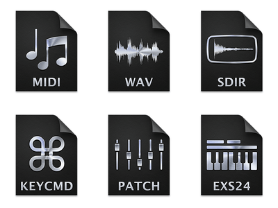 Cool Set of Apple Logic Pro X Document Icons