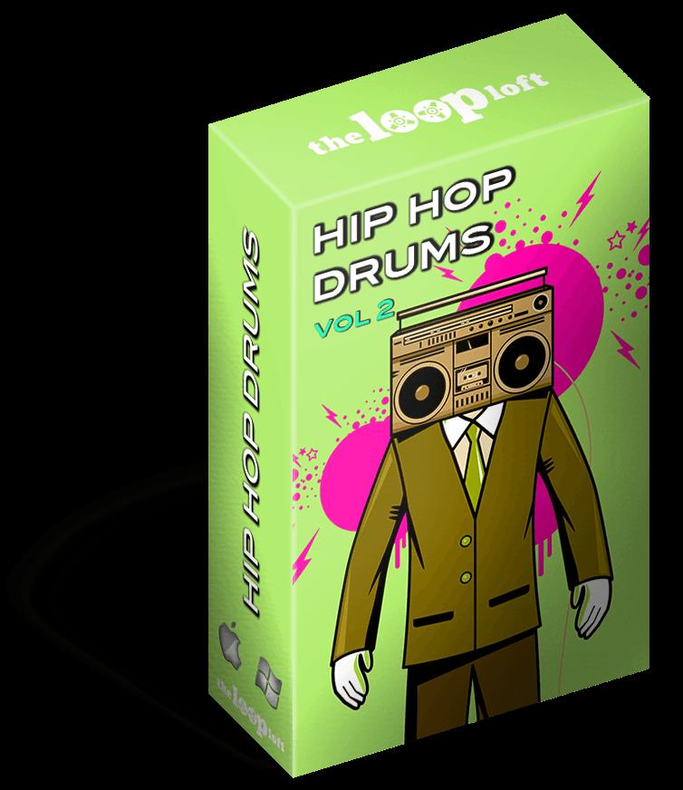 Live Hip Hop Drums WAV, Stylus RMX, REX2 & Apple Loops