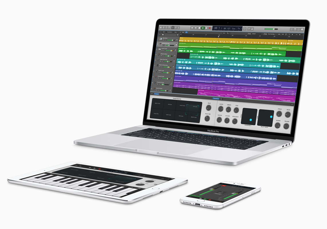 Big updates for Logic Pro and GarageBand iOS app